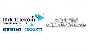 Türk Telekom ve İştirakleri Bilişim 500'de Zirvede