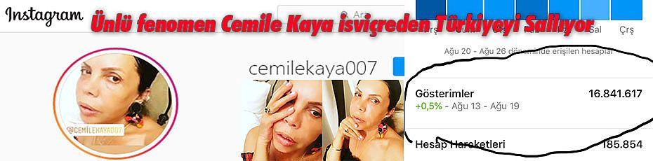 Ünlü fenomen Cemile Kaya isviçre'den Türkiyeyi Sallıyor