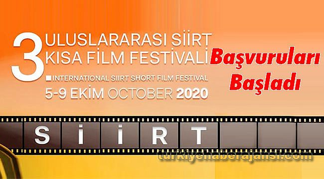 3. Siirt Uluslararası Kısa Film Festivali Başvuruları Başladı