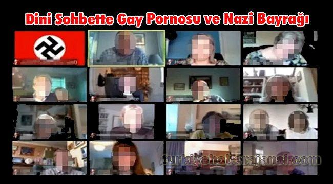 Dini Sohbette Gay Pornosu ve Nazi Bayrağı