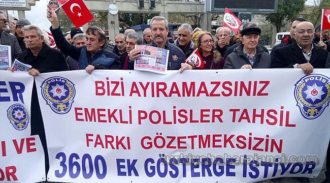 Emekli polisler, Ankara'da 3 Makama 3600 için DİLEKÇE verdi