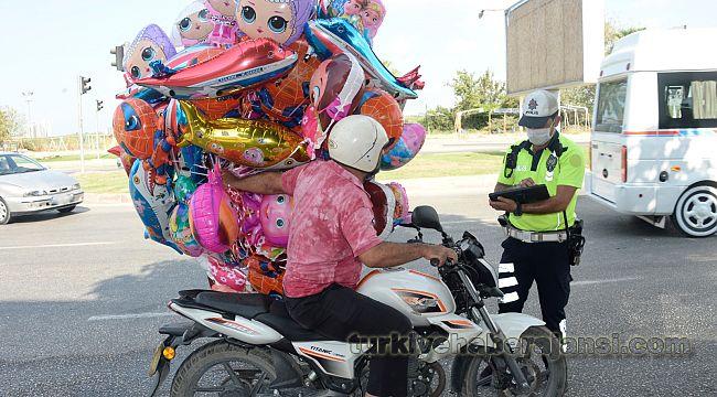 Kask kullanmayan 5 bin 380motosiklet sürücüsüne CEZA kesildi