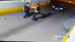 Kavga eden polis ve bekçi görevlerinden uzaklaştırıldı