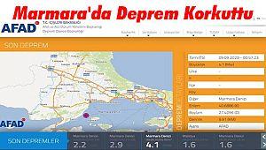 Marmara'da Deprem Korkuttu