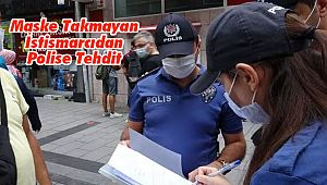Maske Takmayan İstismarcıdan Polise Tehdit