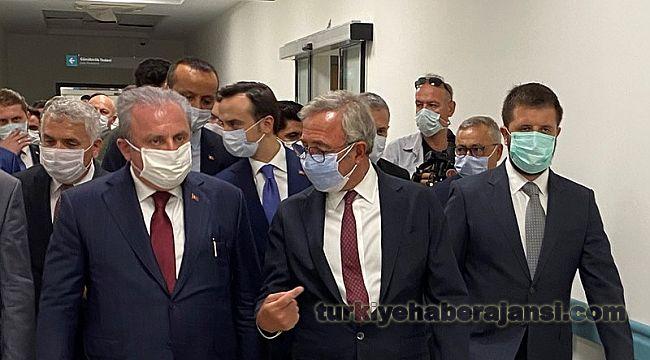 Şentop, Yapımı Devam Eden Tekirdağ Şehir Hastanesi'ni İnceledi