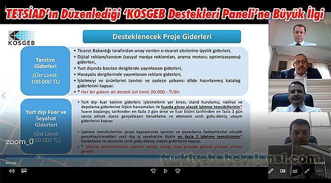 TETSİAD'ın Düzenlediği 'KOSGEB Destekleri Paneli'ne Büyük İlgi