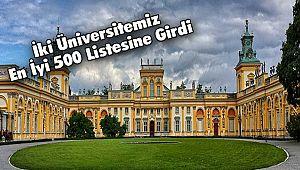 İki Üniversitemiz En İyi 500 Listesine Girdi