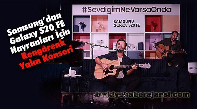 Samsung'dan Galaxy S20 FE Hayranları İçin Rengârenk Yalın Konseri