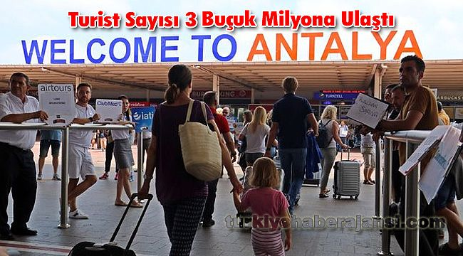 Turist Sayısı3 Buçuk Milyona Ulaştı