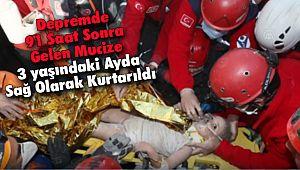 91 Saat Sonra, 3 Yaşındaki Ayda, Sağ Olarak Kurtarıldı