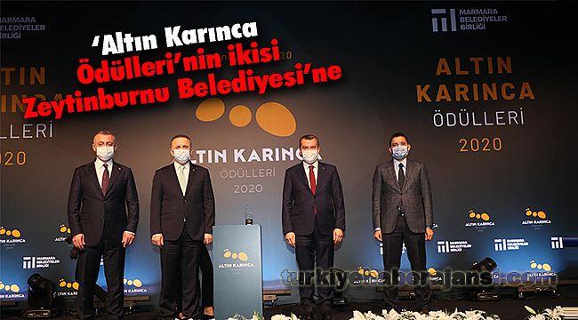 'Altın Karınca Ödülleri'nin ikisi Zeytinburnu Belediyesi'ne