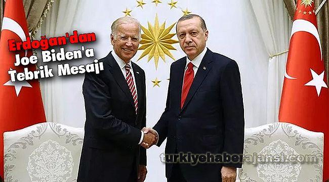 Erdoğan'dan Joe Biden'a Tebrik Mesajı