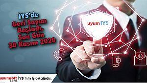 İYS'de Geri Sayım Başladı, Son Gün 30 Kasım 2020