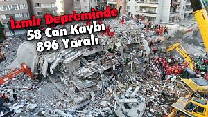 İzmir Depreminde 58 Can Kaybı 896 Yaralı
