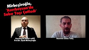 Mirbeşiroğlu , 'Azerbaycan'da Sabır Taşı Çatladı'