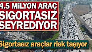 Trafikte 4,5 Milyon Araç SİGORTASIZ..