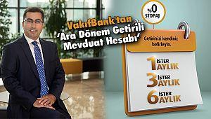 VakıfBank'tan 'Ara Dönem Getirili Mevduat Hesabı'