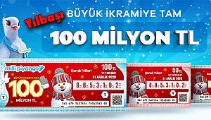 Yılbaşı Bileti Büyük İkramiyesi 100 milyon TL