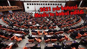 2021 yılı bütçesi Meclis'te kabul edildi