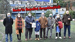 Erhan Başkan Minik Sporcunun Hayalini Gerçekleştirdi