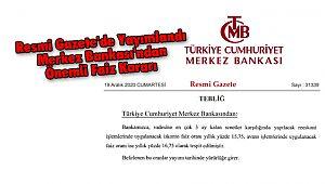 Merkez Bankası'ndan Önemli Faiz Kararı