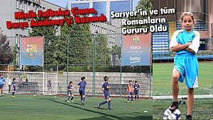 Minik Futbolcu Çimen, Barça Academy'yi Kazandı