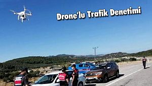 Polisten Drone'lu Trafik Denetimi