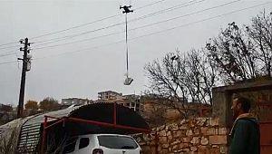 Polisten yeni hizmet: Kısıtlamada drone ile ilaç dağıtımı