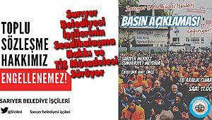 Sarıyer Belediyesi İşçilerinin Sendikalaşma Hakkı ve TİS Mücadelesi Sürüyor