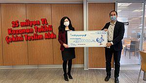 25 milyon TLKazanan Talihli Çekini Teslim Aldı