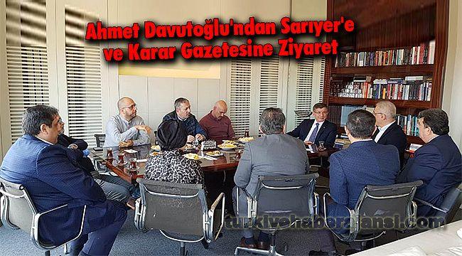 Ahmet Davutoğlu'ndan Sarıyer'e Ziyaret