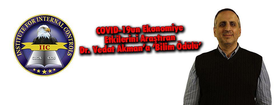 COVID-19 Araştırmaları Nedeniyle Dr. Vedat Akman'a 'Bilim Ödülü'