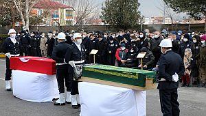 Polis ve Öğretmen Çiftin Cenazeleri Törenle Uğurlandı