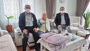 90 Yaşındaki Emektar Polise YAŞ GÜNÜ Ziyareti