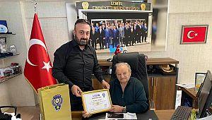 İzmir TUMED'den Başkan Ceylan'a ONUR BELGESİ