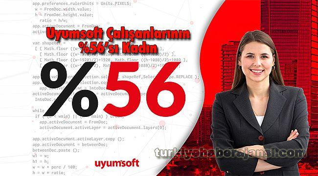 Uyumsoft'un Çalışanlarının %56'sı Kadın