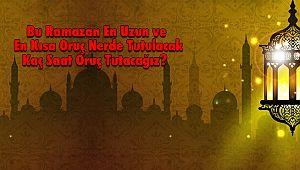 Bu Ramazan En Uzun ve En Kısa Oruç Nerde Tutulacak Kaç Saat Oruç Tutacağız?