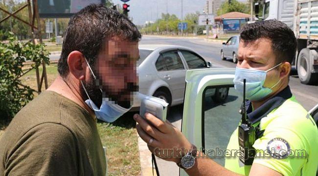 368 promil alkollü sürücü kaza yaptı,
