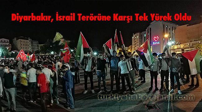 Diyarbakır İsrail Terörüne Karşı Tek Yürek Oldu