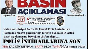 Emektar polislere Basın Açıklaması için AÇIK DAVET..!