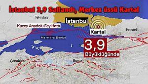 İstanbul 3,9 Sallandı, Merkez üssü Kartal