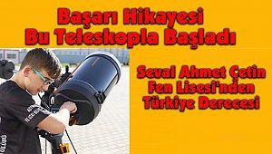 Seval Ahmet Çetin Fen Lisesi'nden Türkiye Derecesi