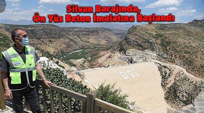 Silvan Barajında, Ön Yüz Beton İmalatına Başlandı