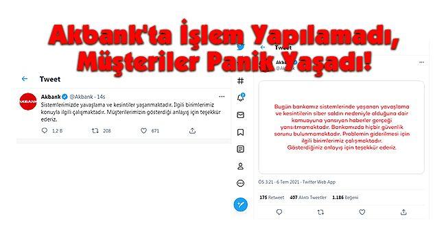 Akbank'ta İşlem Yapılamadı, Müşteriler Panik Yaşadı!