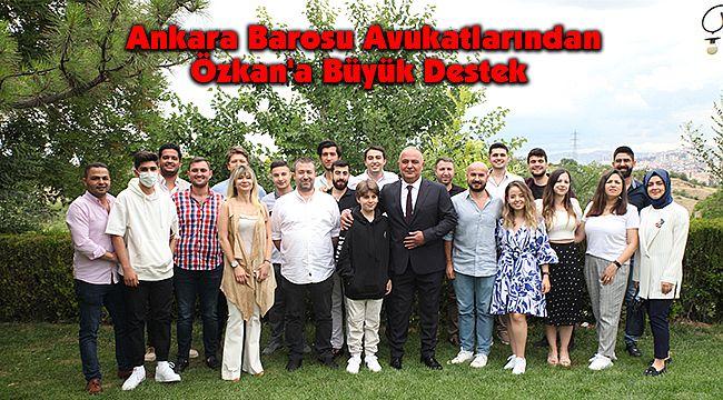 Ankara Barosu Avukatlarından Özkan'a Büyük Destek
