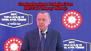 Cumhurbaşkanı Erdoğan'dan KKTC'de 'Maraş' Mesajı