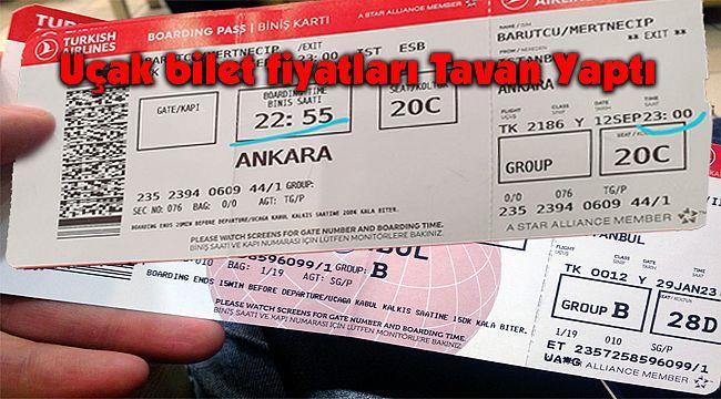 Uçak bilet fiyatları Tavan Yaptı