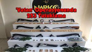 'Vatan' Operasyonunda 253 Tutuklama