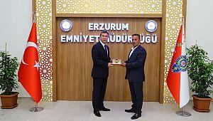 Erzurum Emniyet Müdürü Tuncer'e HAYIRLI OLSUN Ziyareti